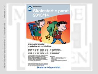 Informationsmøde på Mosedeskolen Onsdag den  31. oktober  kl. 19.00-21.00