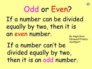 Odd  or  Even ?