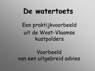 De watertoets