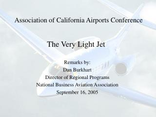 Association of California Airports Conference