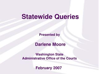 Statewide Queries