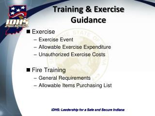 Training & Exercise Guidance