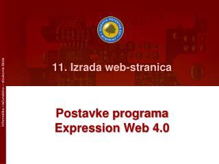 11. Izrada web-stranica