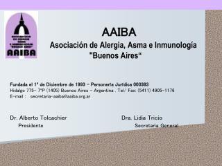AAIBA Asociación de Alergia, Asma e Inmunología