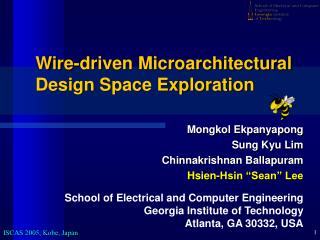 Wire-driven Microarchitectural Design Space Exploration