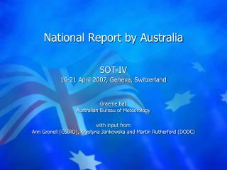 National Report by Australia