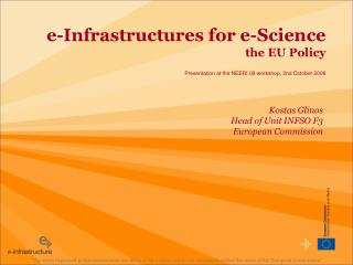 e-Infrastructures for e-Science the EU Policy