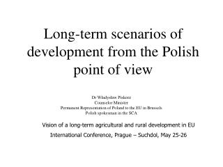 Long-term scenarios of development from the Polish point of view