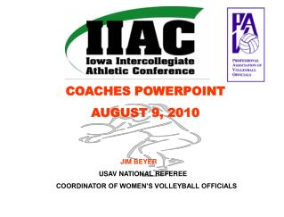 COACHES POWERPOINT AUGUST 9, 2010