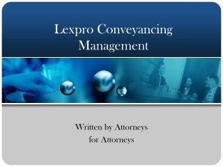Lexpro Conveyancing Management