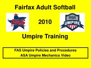 Fairfax Adult Softball 2010 Umpire Training