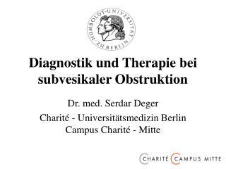 Diagnostik und Therapie bei subvesikaler Obstruktion