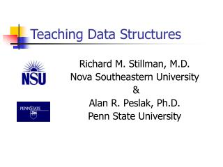 Teaching Data Structures