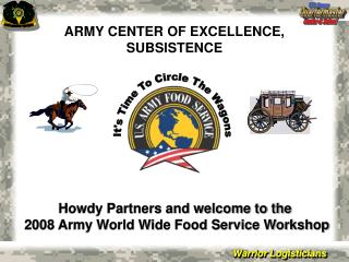 ARMY CENTER OF EXCELLENCE, SUBSISTENCE
