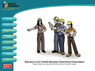 Welcome to the Forklift Refresher PowerPoint Presentation.