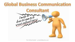 Global Business  Communication Consultant