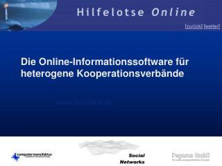 Die Online-Informationssoftware für heterogene Kooperationsverbände