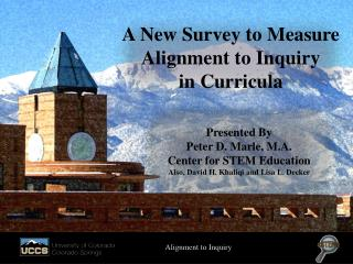 A New Survey to Measure Alignment to Inquiry in Curricula