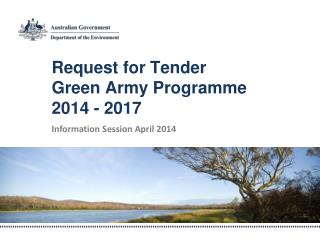 Request for Tender Green Army Programme 2014 - 2017