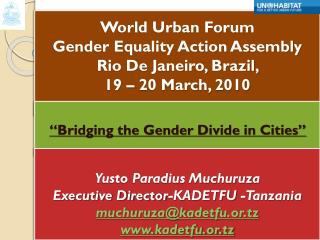 """Bridging the Gender Divide in Cities"""