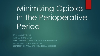 Anaesthetics, Muscle Relaxants and Perioperative Sedatives