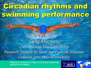 Circadian rhythms and swimming performance