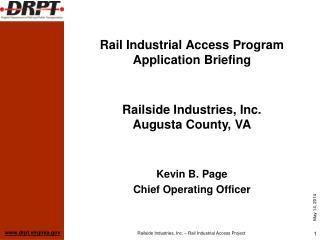Rail Industrial Access Program Application Briefing