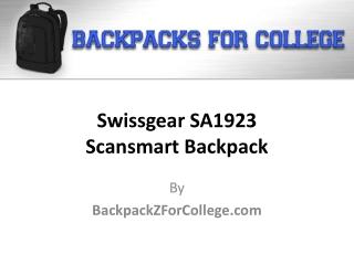 Swissgear SA1923 Scansmart Backpack