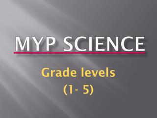 MYP Science