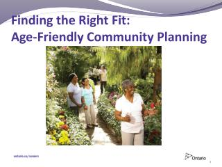 Finding the Right Fit: Age-Friendly Community Planning