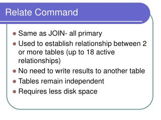 Relate Command