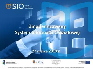 Zmodernizowany  System Informacji Oświatowej