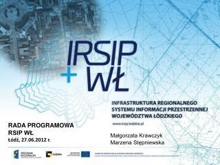 RADA PROGRAMOWA RSIP WŁ Łódź, 27.06.2012 r.