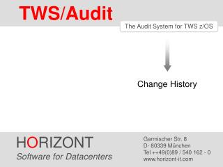 TWS/Audit