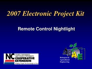 2007 Electronic Project Kit