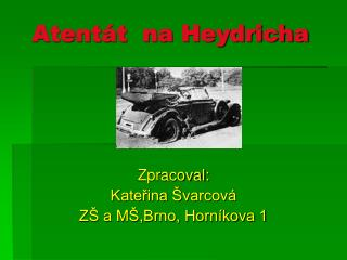 Atent�t  na Heydricha