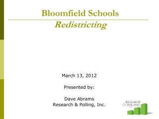 Bloomfield Schools Redistricting
