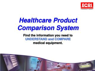 Healthcare Product Comparison System