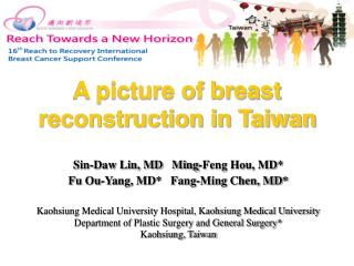 A picture of breast reconstruction in Taiwan