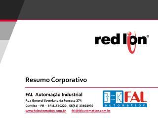 FAL  Automa ção Industrial Rua General Severiano da Fonseca 274