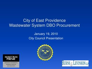 City of East Providence Wastewater System DBO Procurement