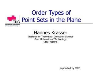 Order Types of  Point Sets in the Plane