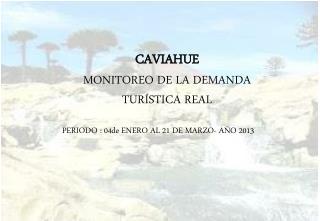 CAVIAHUE MONITOREO DE LA DEMANDA TURÍSTICA REAL PERIODO : 04de ENERO AL 21 DE MARZO- AÑO 2013
