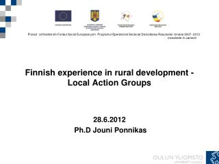 Finnish experience in rural development - Local Action Groups
