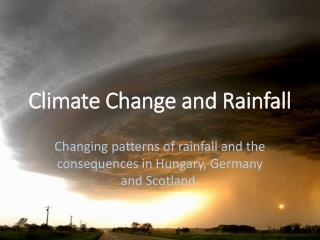 Climate Change and Rainfall