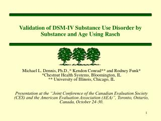 Validation of DSM-IV Substance Use Disorder by Substance and Age Using Rasch