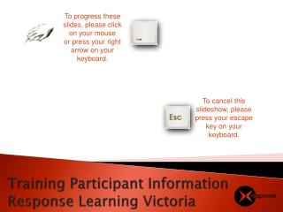 Training Participant Information Response Learning Victoria