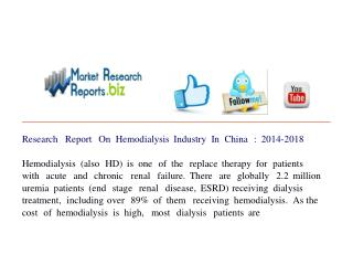 Research Report On Hemodialysis Industry In China : 2014-201