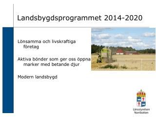 Landsbygdsprogrammet 2014-2020