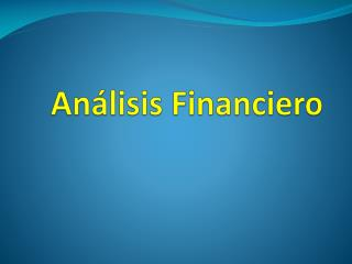 An�lisis Financiero